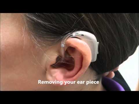 How to put your earmould and hearing aid in and out
