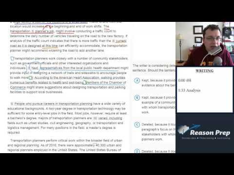 #8 - Deleting Sentence, New SAT Foundations - Writing (видео)