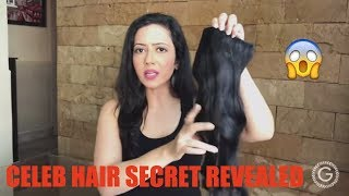 Celebrity Hair secret REVEALED!!!  | How to get long and voluminous hair in 30 sec