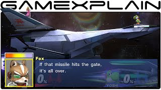 Smash Bros Wii U: All Star Fox Conversations in Orbital Gate Assault (Smash Taunt Easter Egg)