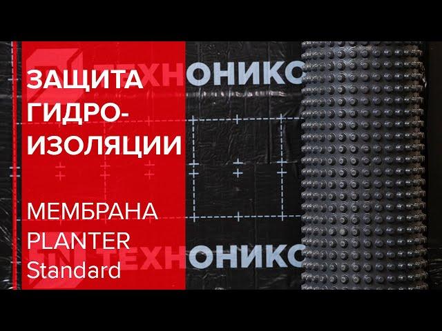 Защита гидроизоляции с профилированной мембраной PLANTER Standard