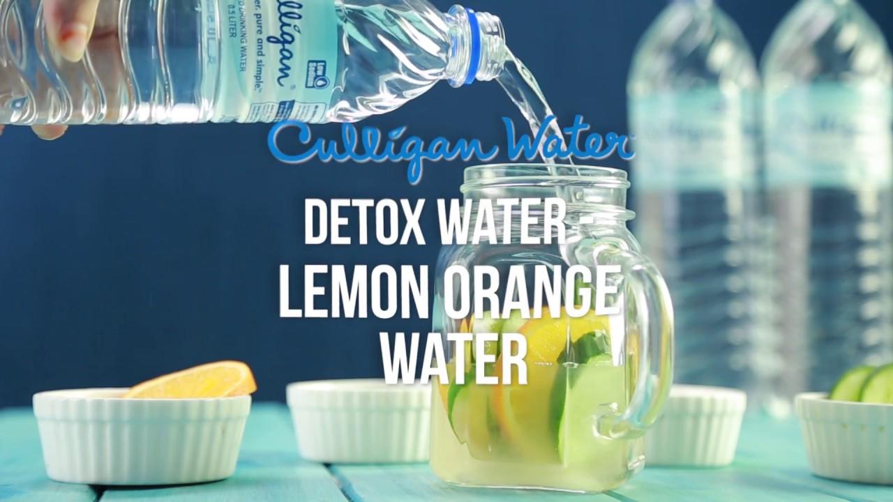 Culligan Water Drinks : Detox Lemon Orange Water