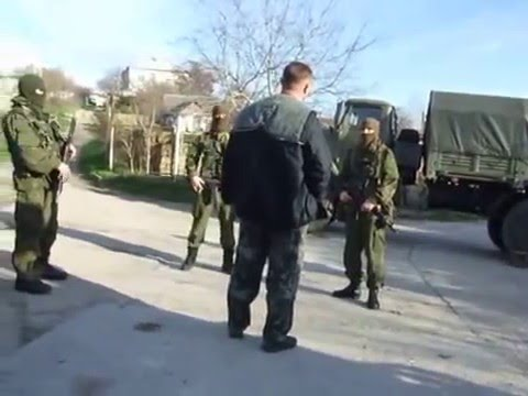 Ukraine War - Ukrainian marine vs Russian troops in Crimea Ukraine Pt.1