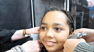 Tiana Gets Her Ears Pierced! Claire