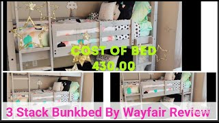 3 Stack Bunk Bed From Way Fair  REVIEW  And  GENDER NEUTRAL ROOM TOUR