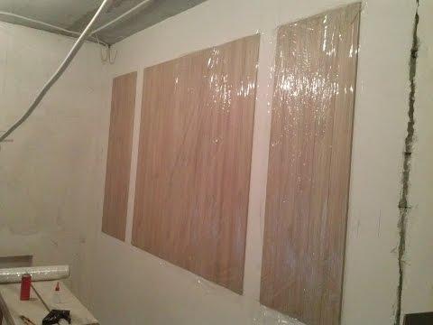 Как клеить ПВХ панели на декоративную стену