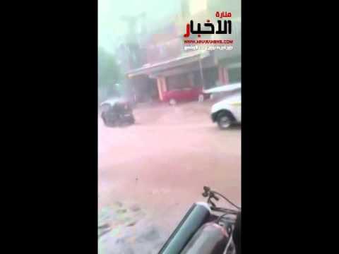 المطره فى قريه الروضه مركز السنبلاوين