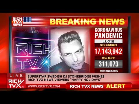 "Superstar Swedish DJ StoneBridge Wishes Rich TVX News Viewers ""Happy Holidays"""