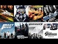 Fast & Furious All parts with poster
