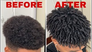 How To Get Curly Hair For Black Men | Finger Coils | Pomegranate & Honey Twisting Soufflé