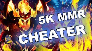 5K MMR CHEATER - Shadow Fiend with MAPHACK + SKILL scripts!