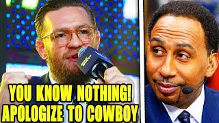 Conor McGregor RESPONDS to Stephen A. Smith comments about Donald Cerrone after UFC 246, Khabib