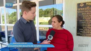 Populares reclamam da falta de estrutura  em hospitais de Toledo