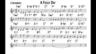 A foggy day - Play along - C version