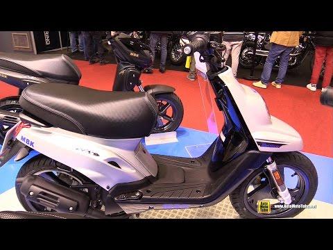 2016 MBK Booster Naked 13inch 50cc Scooter – Walkaround – 2015 Salon de la Moto Paris