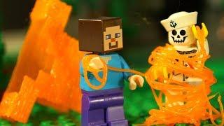 БРОНЯ из ЛАВЫ - 8 МАРТА и 3Д Ручка - ЛЕГО НУБик Майнкрафт Мультфильмы LEGO Minecraft Animation