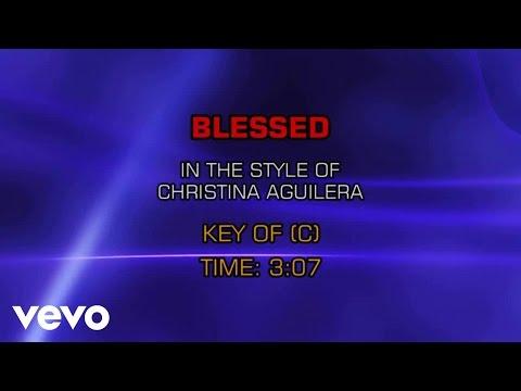 Christina Aguilera - Blessed (Karaoke)
