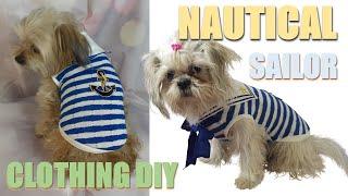 DIY Navy Sailor Dog Clothes – How To Sailor Collar