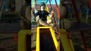Детская металлическая горка для дома и улицы с качелей K-2 от компании SportStenkaUA Шведская стенка, спортивный уголок с производства, Киев - видео
