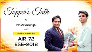 ESE/IES 2018 | Prince Yadav (EE, AIR 72) – MADE EASY Student | Toppers Talk