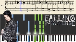 Falling In Reverse - Brother - Piano Tutorial