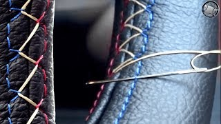 How to stitch a leather steering wheel cover DIY fitting instructions | Kholo.pk