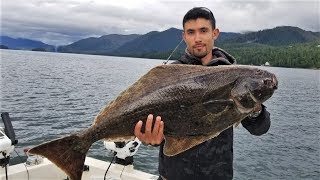 Cooking a Pacific Halibut IN ALASKA!