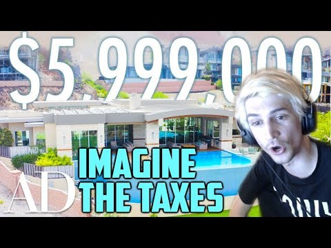 xQc Reacts to Inside a $6M Las Vegas Home and Teaches Chat About Taxes