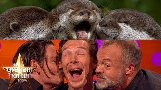Бенедикт Камбербэтч, Benedict Cumberbatch, Johnny Depp and Graham Take Otter Photos - The Graham Norton Show