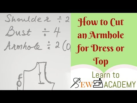 How to Cut an Armhole for your Top or Dress | Quick Sewing Tips #1 | LTS Academy
