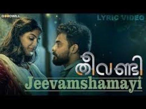 Theevandi Movie Song | Jeevamshamayi | Lyrics Video Song |  Harisankar K S