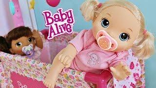 Пупсики Tройняшки Беби Элайв. Играем в Куклы Мультик Утро Baby Alive Игрушки для девочек Зырики ТВ