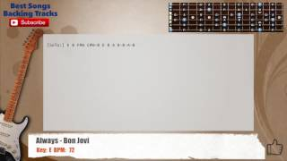 Always - Bon Jovi Guitar Backing Track with chords and lyrics