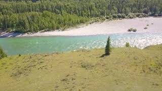Слияние реки Катунь с Кураган Горный Алтай