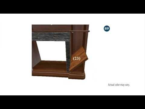 FE9356: Hillcrest Faux Stone Electric Media Fireplace - Espresso Assembly Video