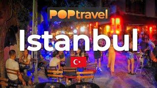 Walking In ISTANBUL / Turkey 🇹🇷- Night Tour To Karaköy (2019) - 4K 60fps (UHD)