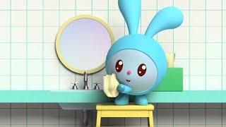 Малышарики - Обучающий мультик для малышей - Все серии про водные процедуры 🛁🚿💧-  сборник