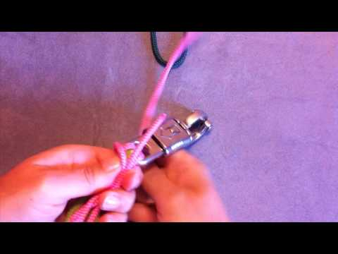 Videoanleitung für einen Führstrick mit Zierknoten