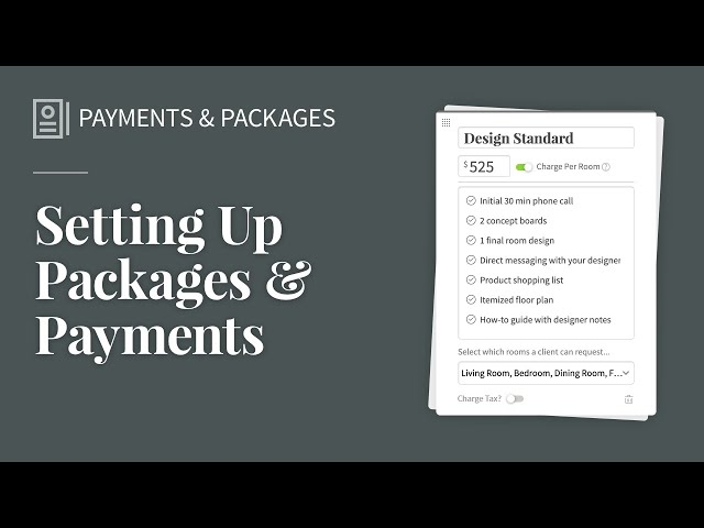 Setting Up Packages & Payments