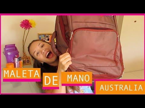 Que llevo en mi maleta de mano (para un viaje largo) | Acá en Australia