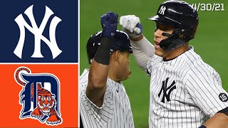 New York Yankees Vs. Detroit Tigers | Game Highlights | 4/30/21