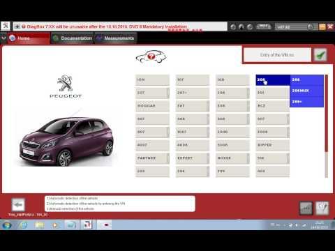 XS Evolution Lexia 3 PSA Diagnostic tool test on Peugeot 206+