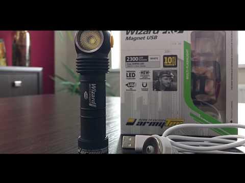 Armytek Wizard Pro v3 Magnet USB unbox