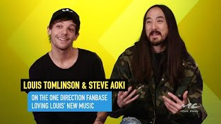 """Louis Tomlinson's Fans Have """"Adopted"""" Steve Aoki!"""