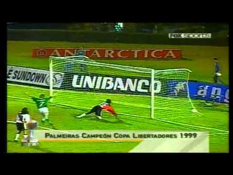 Palmeiras campeón de la Copa Santander Libertadores 1999.