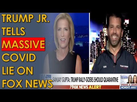 "Donald Trump Jr says COVID deaths are ""Almost Nothing"" in HUGE LIE on Fox News with Laura Ingraham"