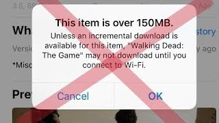 Bypass 150 MB Download Limit in App Store over Cellular Data iOS 11.2   iOS 10   iPhone, iPad   2018