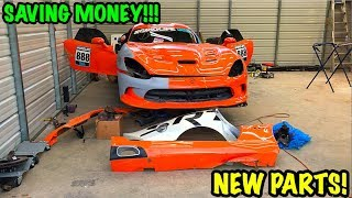 "Rebuilding A Wrecked 2014 Dodge Viper TA ""TIME ATTACK"" PART 5"