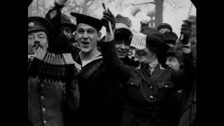 Nov 11, 1918 - Scenes in Paris, France on Armistice Day (restored w/ added sound)