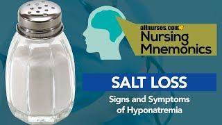 View the video Nursing Mnemonics: SALT LOSS - Signs and Symptoms of Hyponatremia